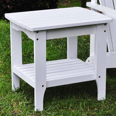 Makayla Rectangular Scroll Side Table Finish: White
