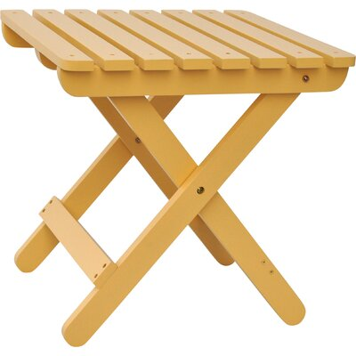 Makenzie Adirondack Folding Table Finish: Bees Wax