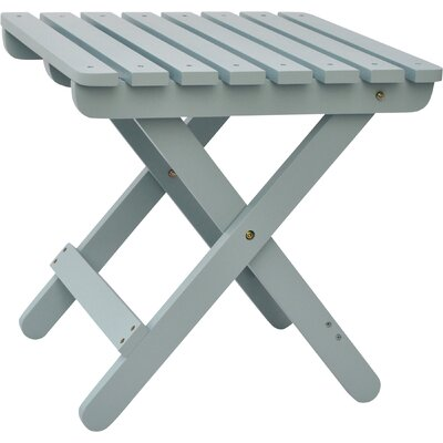 Makenzie Adirondack Folding Table Finish: Dutch Blue