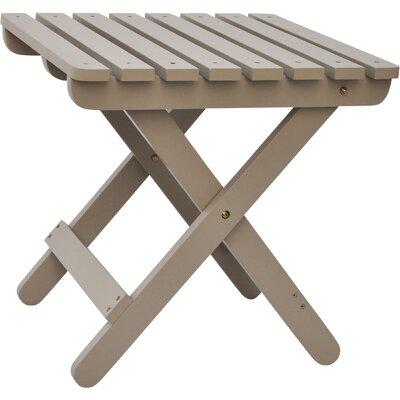 Makenzie Adirondack Folding Table Finish: Taupe Gray