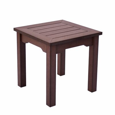 Square Side Table Finish: Chateau Brown