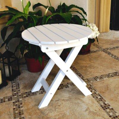 Adirondack Round Folding Side Table Finish: White