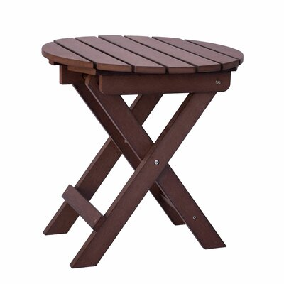 Adirondack Round Folding Side Table Finish: Chateau Brown