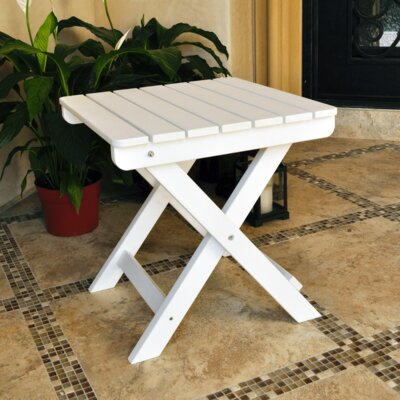 Adirondack Square Folding Side Table Finish: White
