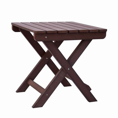 Adirondack Square Folding Side Table Finish: Chateau Brown