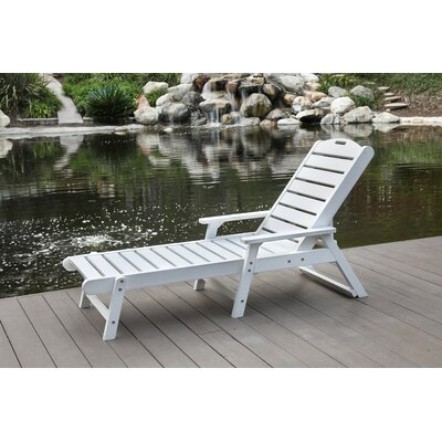 Chaise Lounge Finish: White