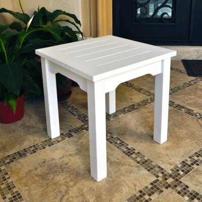 Square Side Table Finish: White