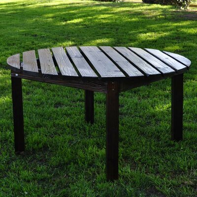 Round Cedar Chat Table Finish: Burnt Brown