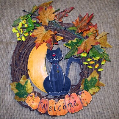 Shine Company Inc. Welcome Cat Wreath at Sears.com