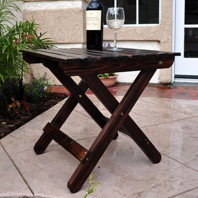 Makenzie Adirondack Folding Table Finish: Burnt Brown