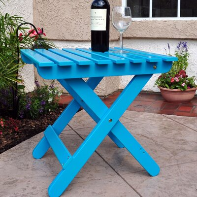 Makenzie Adirondack Folding Table Finish: Turquoise