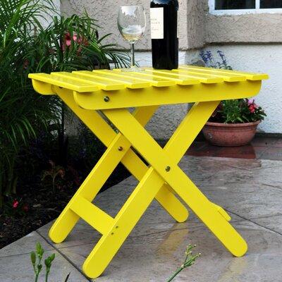 Makenzie Adirondack Folding Table Finish: Lemon Yellow