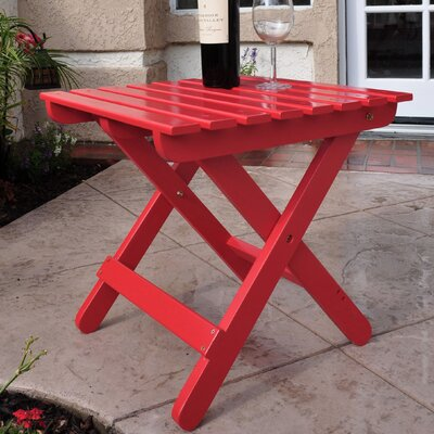 Makenzie Adirondack Folding Table Finish: Tomato Red