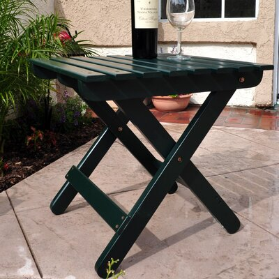 Makenzie Adirondack Folding Table Finish: Dark Green