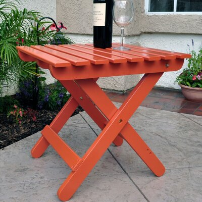 Makenzie Adirondack Folding Table Finish: Rust