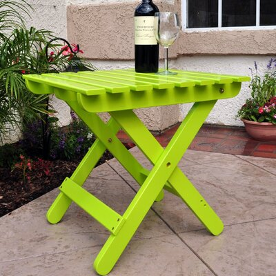 Makenzie Adirondack Folding Table Finish: Lime Green
