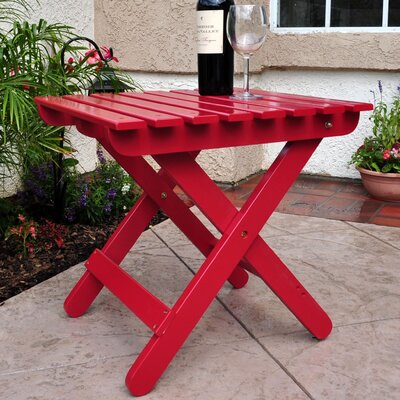 Makenzie Adirondack Folding Table Finish: Chili Pepper