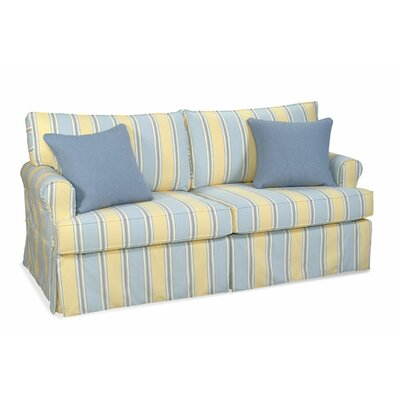 Brunswick Townhouse Sofa Upholstery: SpringDale Cornflower, Throw Pillow Color: Pom Pon Play Spa