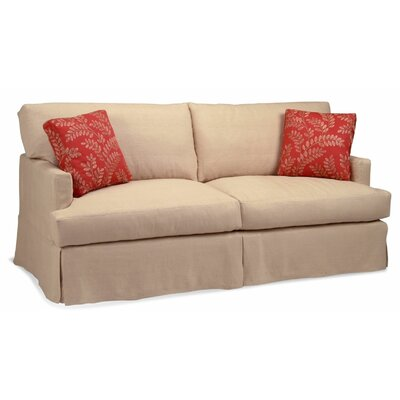 New Haven Sofa Upholstery: Topsider Loden, Throw Pillow Color: Saratoga Tan