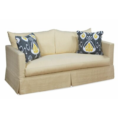 Salem Sofa Upholstery: Topsider Pimento, Throw Pillow Color: Siera Sky