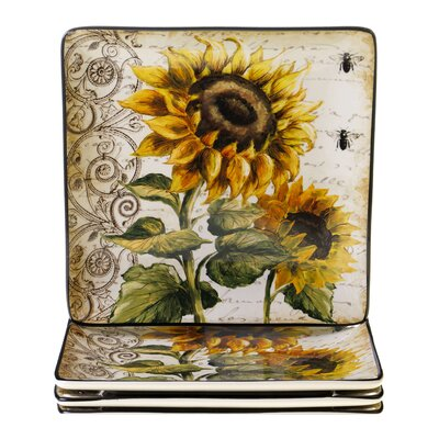 Certified International French Sunflowers Dinnerware Set (2 Pieces)