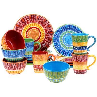 Catlin 16 Piece Dinnerware Set
