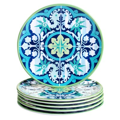 "Granada 9"" Heavy Weight Melamine Salad Plate"