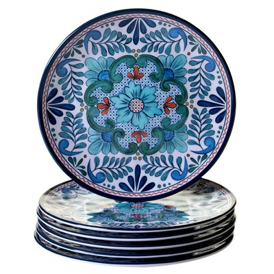 "Talavera 9"" Heavy Weight Melamine Salad Plate"