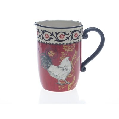 La Provence Rooster 3 Quart Pitcher by Jennifer Brinley