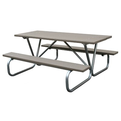 Picnic Table Finish: Driftwood, Table Size: 6'
