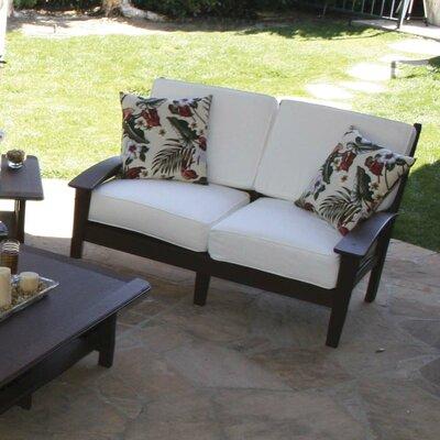 Cafe Love Seat Cushion Cedar Fabric Buttermilk - Product photo