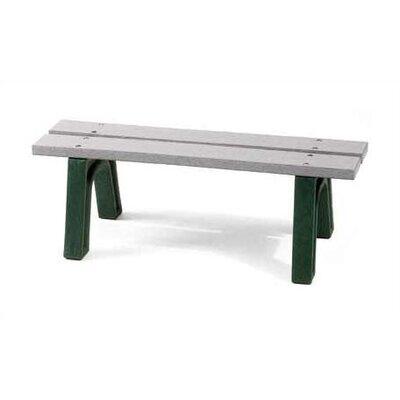 Eagle One Mall Picnic Bench - Size: 4' Long, 2 x 4 Slats, Leg Color: Black, Slat Color: White