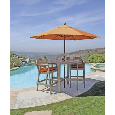 Outdoor La Jolla Dining Table Color: Brown