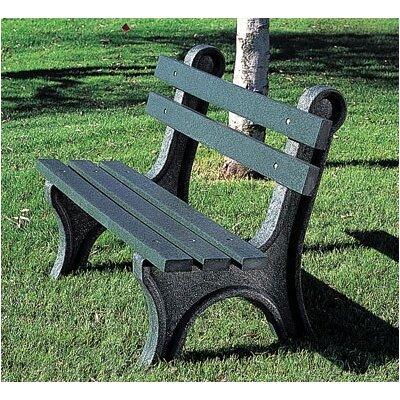 Eagle One High Back Plastic Park Bench - Leg Color: Grey, Slat Color: Driftwood, Size: 4' at Sears.com