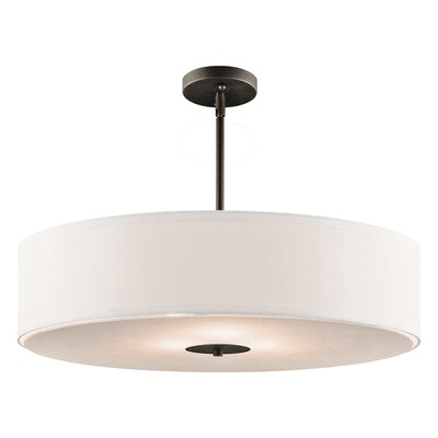 Crystal Persuasion 3-Light Drum Pendant Finish: Olde Bronze