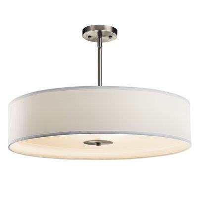 Crystal Persuasion 3-Light Drum Pendant Finish: Brushed Nickel