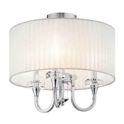 Austine Convertible 3-Light Semi Flush Mount