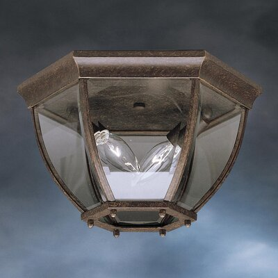 Connan 2-Light Flush Mount Color: Tannery Bronze