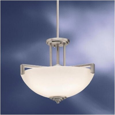 Misty 3-Light Semi Flush Mount Finish: Brushed Nickel