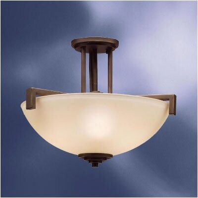 Misty 3-Light Semi Flush Mount Finish: Olde Bronze