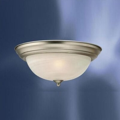 Ladonna Umber Etched Large 2-Light Flush Mount Color: Brushed Nickel