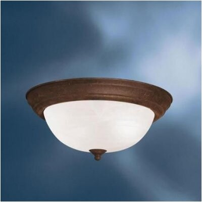 Umber Etched Large 2-Light Flush Mount Finish: Tannery Bronze