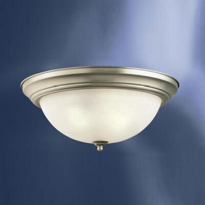 Gale Umber Etched Large 3-Light Flush Mount Color: Brushed Nickel