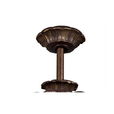 Ceiling Fan Down Rod in Carre Bronze Size: 12
