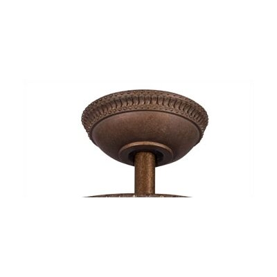Ceiling Fan Down Rod in Tannery Bronze with Gold Size: 12