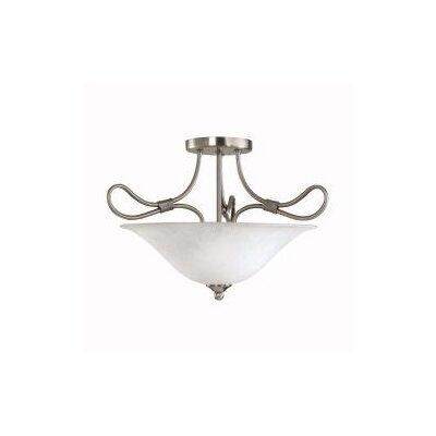 4.Stafford 2-Light Semi Flush Mount