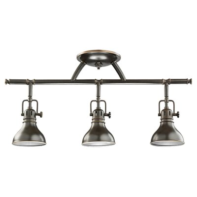 Rail Lights 3-Light Directional Full Track Lighting Kit Finish: Olde Bronze