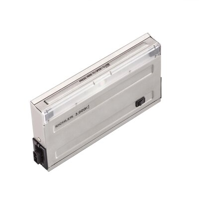 Direct-Wire Undercabinet Finish: Stainless Steel, Size: 1 H x4 W x7.75 D, Bulb Color Temperature: 3000K