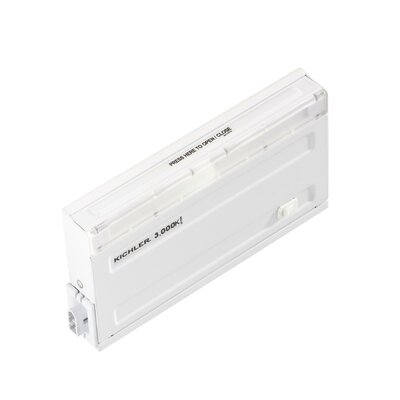 Direct-Wire Undercabinet Finish: White, Size: 1 H x4 W x7.75 D, Bulb Color Temperature: 3000K