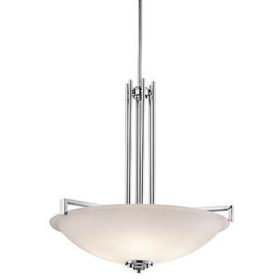 Eileen 4-Light Inverted Pendant Finish: Chrome
